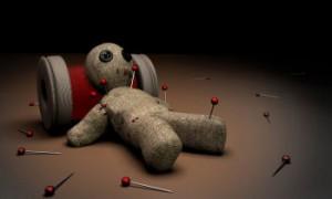 hice un muñeco voodoo